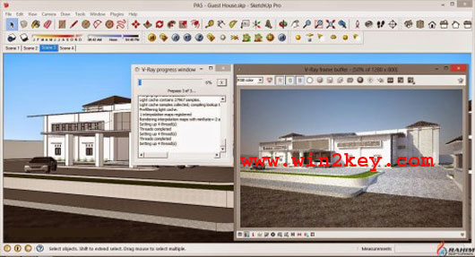 Vray 2.0 For SketchUp 2016 Crack Plus License key Download [LATEST] Free