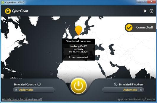 CyberGhost VPN 5 Premium Crack