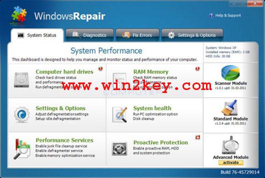 Windows Repair Pro v3.9.0 Serial Key