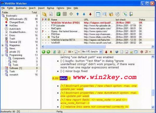 Website Watcher License Key