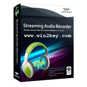 Wondershare Streaming Audio Recorder Crack 2.3.7 Download