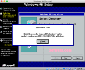 Windows 98 SE Setup works