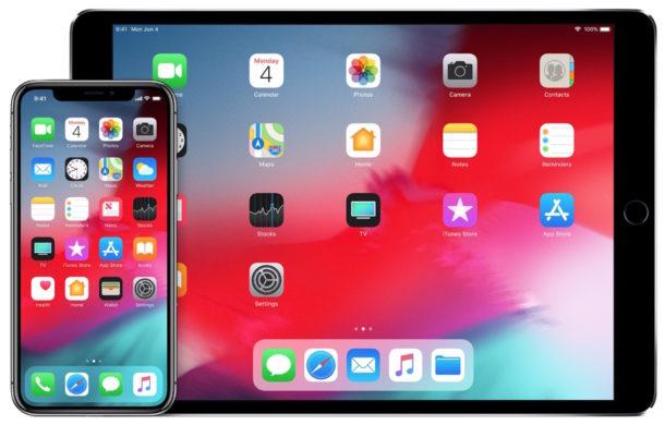 iOS 12 iPhone and iPad