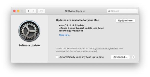 MacOS 10.14.5 Update