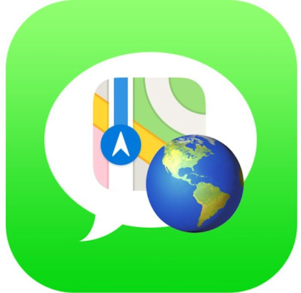 Share your current location with the iPhone in messages the quick way with the phrase