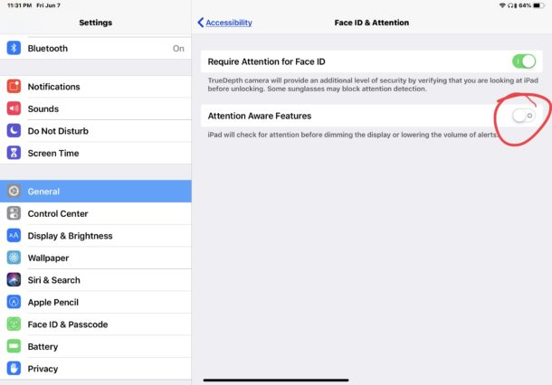 """How to enable or disable the """"Attention"""" features on the iPhone or iPad"""