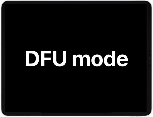 How to enter DFU mode on iPad Pro
