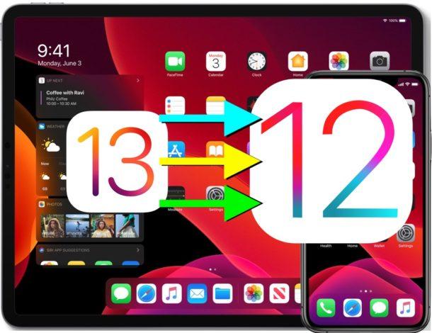 How to downgrade iOS 13 beta to iOS 12