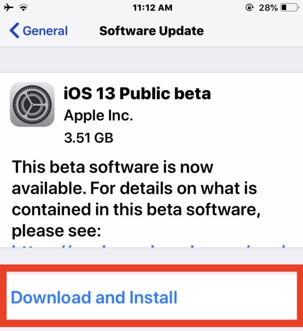 Download and install iOS 13 public beta on iPhone