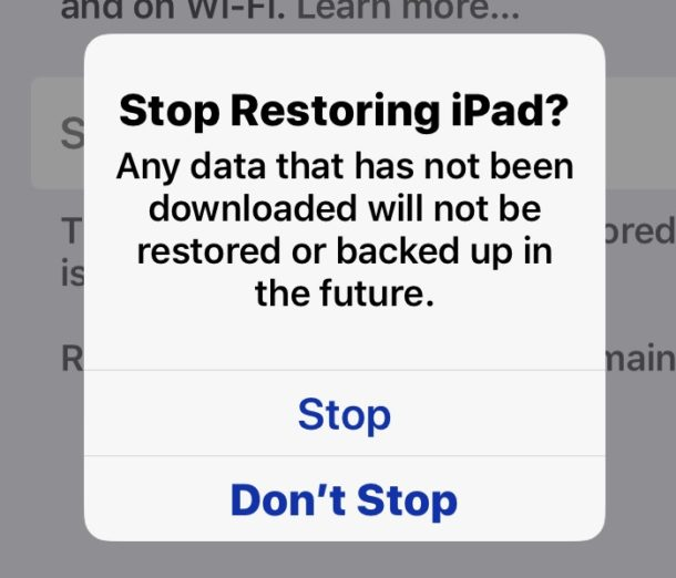 How to stop restoring iCloud from backup on iPhone or iPad