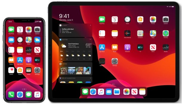 iOS 13 and iPadOS compatible iPhone and iPad models