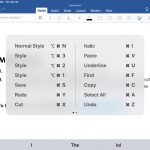 16 Word for iPad Keyboard Shortcuts